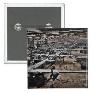 Aircraft Assembly Line WWII Pinback Buttons