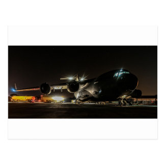 Aircraft at Night Postcard