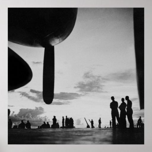 Aircraft Carrier, 1940s Print