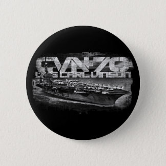 Aircraft carrier Carl Vinson Round Button Button
