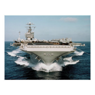 Aircraft Carrier front view Navy Photo Poster
