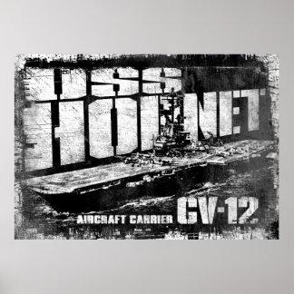 Aircraft carrier Hornet Poster
