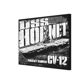 Aircraft carrier Hornet Stretched Canvas Print