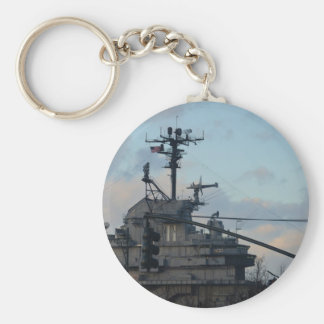 Aircraft Carrier In New York Key Ring