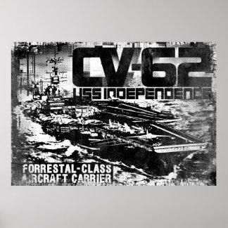 Aircraft carrier Independence Print