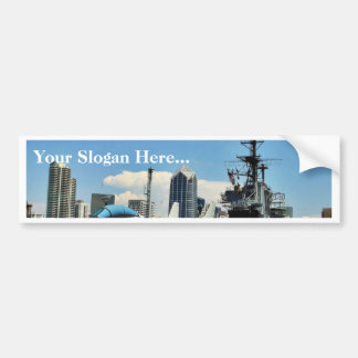 Aircraft Carrier Ship Car Bumper Sticker