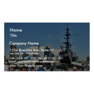 Aircraft Carrier Ship Business Card Templates