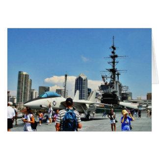 Aircraft Carrier Ship Greeting Card