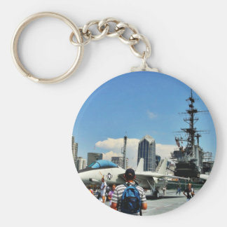Aircraft Carrier Ship Key Chain