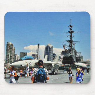 Aircraft Carrier Ship Mousepad