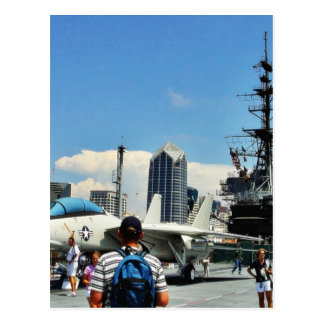 Aircraft Carrier Ship Post Card