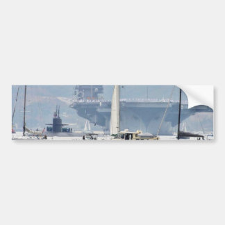 Aircraft Carriers Bay Ships Boats Bumper Sticker