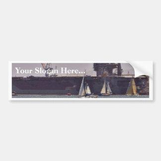 Aircraft Carriers Boats Ships Bumper Sticker