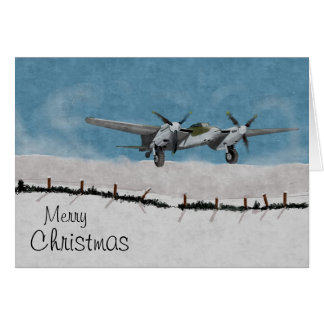 Aircraft Christmas Card