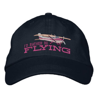 Aircraft Classic Cessna I'd Rather Be Flying Embroidered Baseball Caps