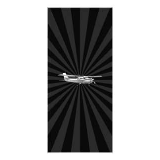 Aircraft Classic Cessna Silhouette Flying Burst Rack Card