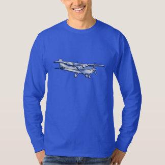Aircraft Classic Chrome Cessna Flying Carbon Fiber T-Shirt