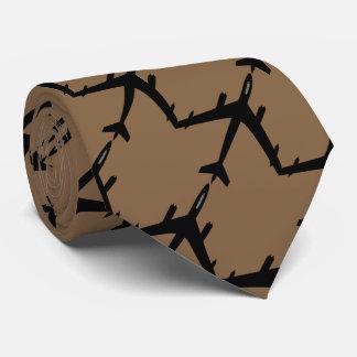 Aircraft flight brown tie