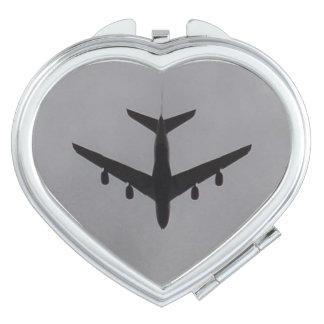 Aircraft Heart Compact Mirror