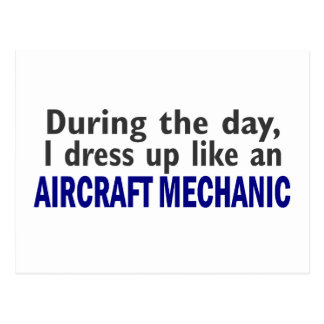 Aircraft Mechanic During The Day Postcard