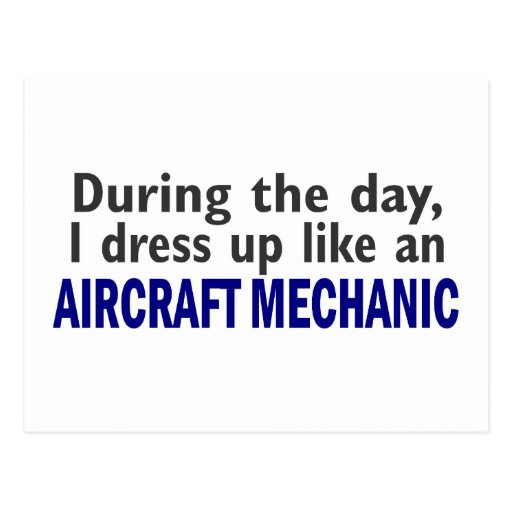 Aircraft Mechanic During The Day Postcards