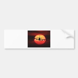 Aircraft Sun Bumper Sticker