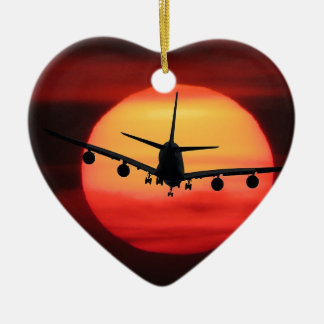 Aircraft Sun Ceramic Ornament
