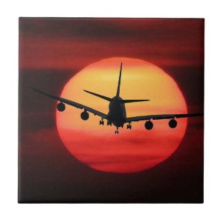 Aircraft Sun Ceramic Tile