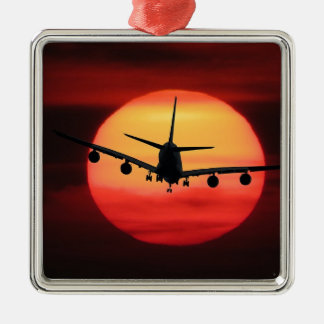 Aircraft Sun Metal Ornament