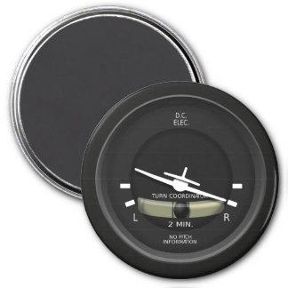 Aircraft Turn Coordinator Instrument 7.5 Cm Round Magnet