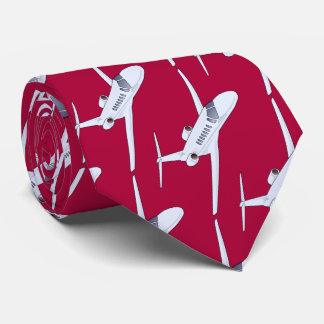 Aircraft with red backround tie
