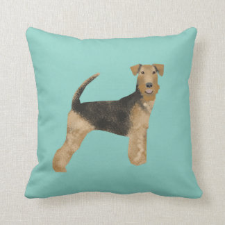 airedale, airedale terrier, love, dog love, dog cushion