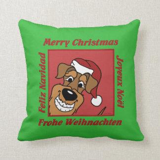 Airedale Christmas Cushion