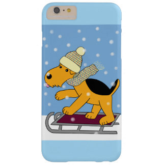 Airedale Dog on Sled iPhone 6/6s Plus Case