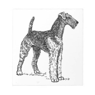 Airedale drawing notepad