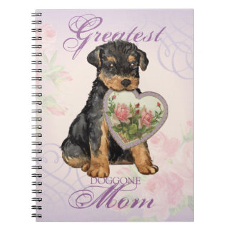 Airedale Heart Mom Spiral Notebooks