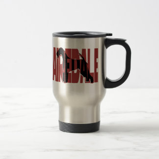 Airedale, King of Terriers, Silhouette Travel Mug