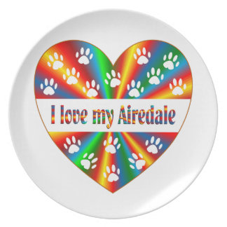 Airedale Love Plate