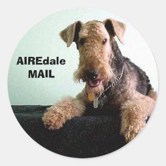 AIREdale MAIL Round Sticker