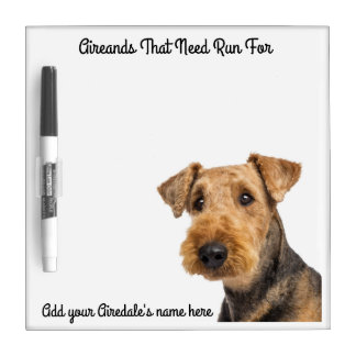 Airedale Message Dry Erase Board