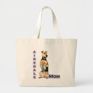 Airedale Mom 4 Large Tote Bag