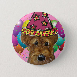 Airedale Party Dog 6 Cm Round Badge