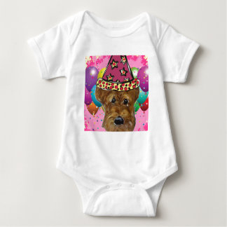 Airedale Party Dog Baby Bodysuit