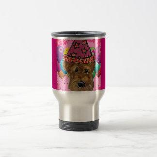 Airedale Party Dog Travel Mug