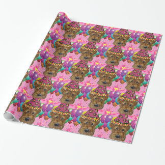 Airedale Party Dog Wrapping Paper