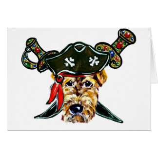 Airedale Pirate Card