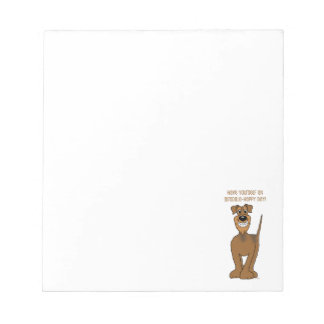 Airedale Smile Notepad