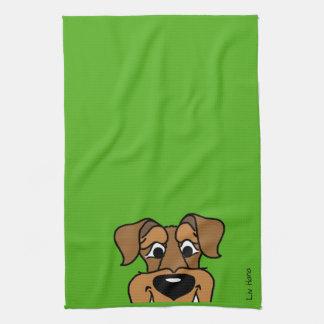 Airedale Smile Tea Towel