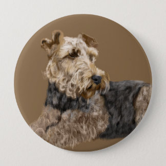Airedale Terrier 10 Cm Round Badge