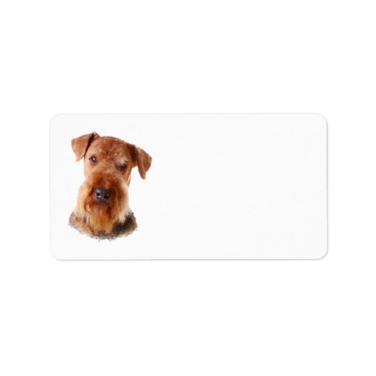 Airedale Terrier Address Label